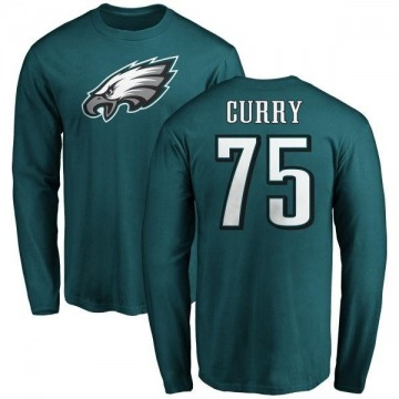 Men's Vinny Curry Philadelphia Eagles Name & Number Logo Long Sleeve T-Shirt - Green
