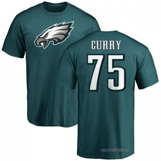 Men's Vinny Curry Philadelphia Eagles Name & Number Logo T-Shirt - Green