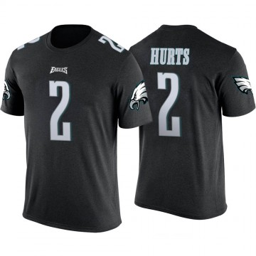 Youth Jalen Hurts Philadelphia Eagles Black Color Rush Legend T-Shirt